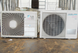 Air conditioning units and refrigerators containing CFCs are brought in.